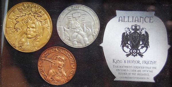 Монеты из World of Warcraft